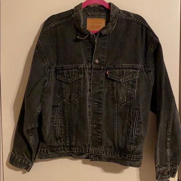 Levi's Black Denim Jacket Large